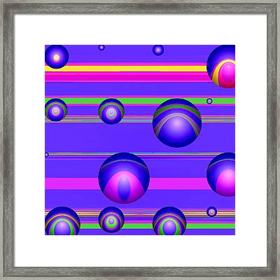 Flotation Devices - Grape Framed Print by Wendy J St Christopher