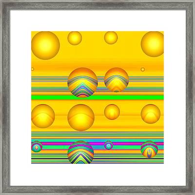 Flotation Devices - Sunshine Framed Print by Wendy J St Christopher