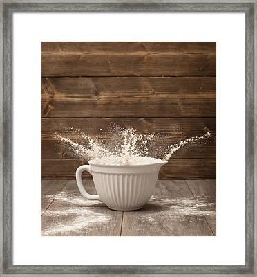 Flour Splash Framed Print