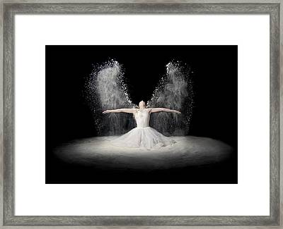 Flour Wings Framed Print by Pauline Pentony Ba