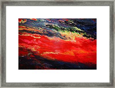 Framed Print featuring the painting Flow #1.abstract by Viktor Lazarev