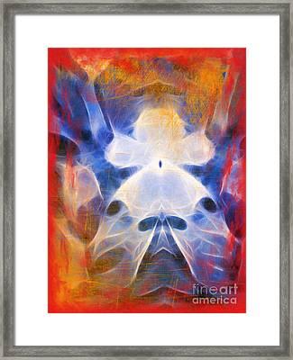 Flow Grunge Framed Print