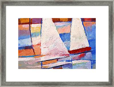 Flow Impasto Framed Print by Lutz Baar