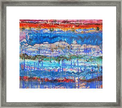 Flow Instability Framed Print by Regina Valluzzi