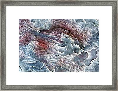 Flow Of Erosion Framed Print by Tim Gainey