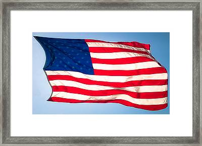 Flow Of Freedom Framed Print by Karen Wiles
