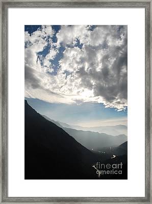 Flow Framed Print by Susan Hernandez