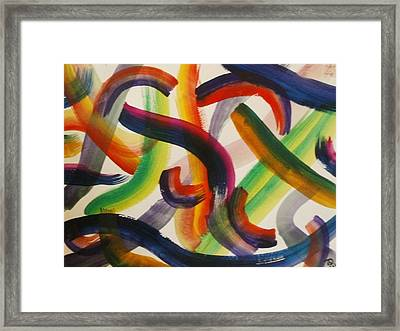 Framed Print featuring the painting Flow by Thomasina Durkay