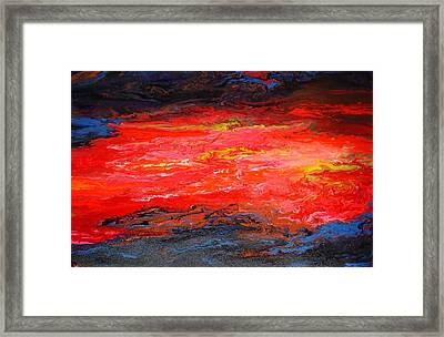 Framed Print featuring the painting Flow#2.abstract by Viktor Lazarev