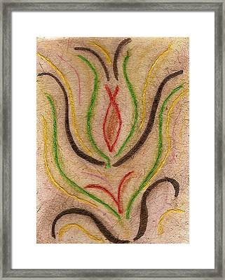 Flower Abstraction Framed Print by Karla Ricker