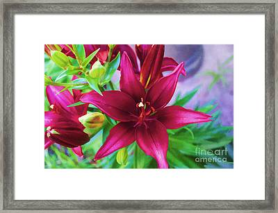Flower - Amazing Lilies - Luther Fine Art Framed Print by Luther Fine Art