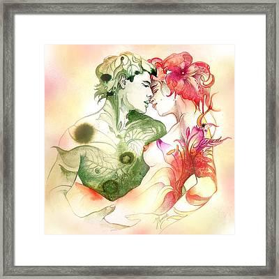Flower And Leaf Framed Print