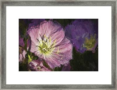 Framed Print featuring the painting Flower At 4pm by Ike Krieger