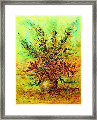 Flower Bouquet Framed Print by Martin Capek