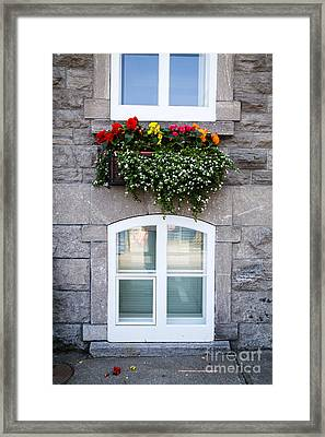 Flower Box Old Quebec City Framed Print by Edward Fielding