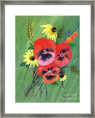 Flower Bunch Framed Print