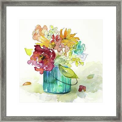 Flower Burst In Vase II Framed Print by Lanie Loreth