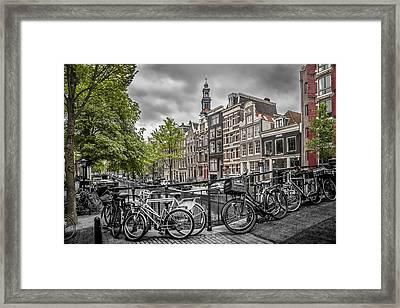 Amsterdam Flower Canal Framed Print by Melanie Viola