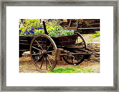 Flower Cart Framed Print by Design Windmill