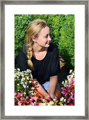 Flower Child Framed Print by Susan Leggett