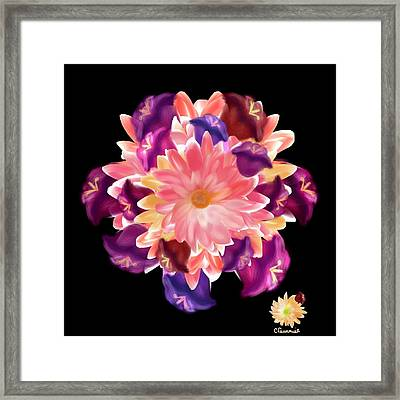 Flower Circle Framed Print