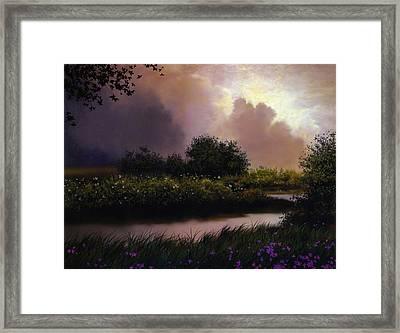 Flower Creek Framed Print by Robert Foster