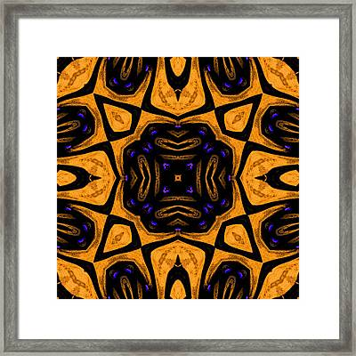 Flower Cross Star 1 Framed Print by Marcela Bennett