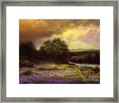 Flower Dell Framed Print by Robert Foster