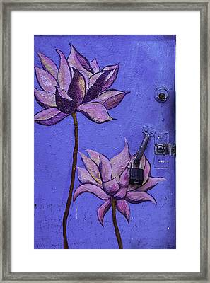 Flower Door Framed Print by Garry Gay