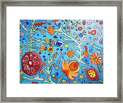 Flower Dream Framed Print by Artists With Autism Inc