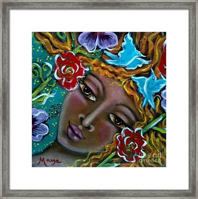 Flower Elemental Framed Print