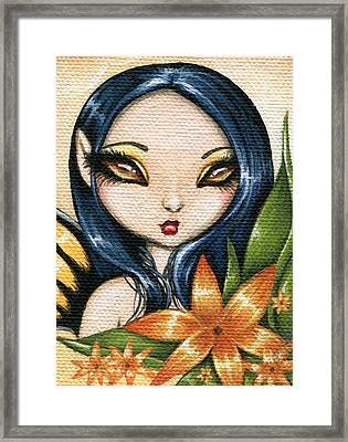 Flower Fairy Kasumi Framed Print by Elaina  Wagner