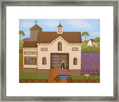 Flower Farm Framed Print