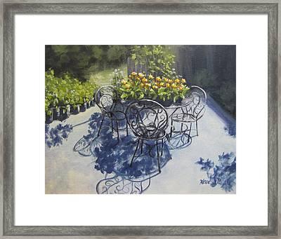 Flower Feast Framed Print