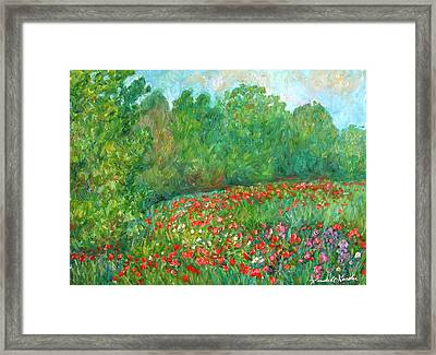 Flower Field Framed Print by Kendall Kessler