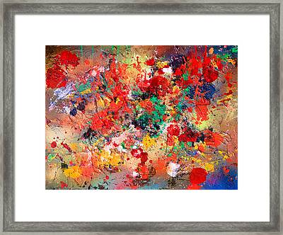 Flower Fields Framed Print