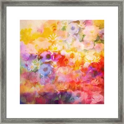 Flower Fiesta Framed Print by Lutz Baar