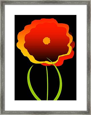 Framed Print featuring the digital art Flower by Gayle  Thomas