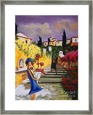 Flower Girl Art Print Framed Print
