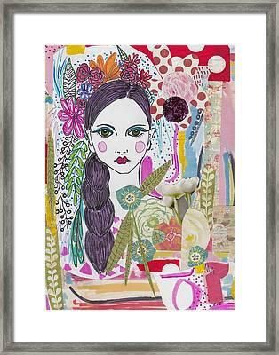 Flower Girl Collage Framed Print