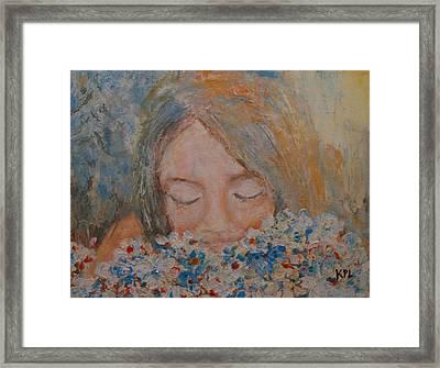 Flower Girl Framed Print by Kathy Peltomaa Lewis