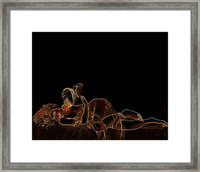 Flower Girl Man Ray Homage Framed Print by Brian King