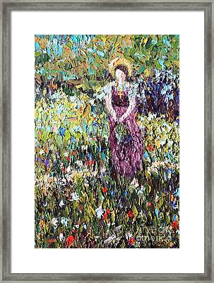 Flower Girl Framed Print by Pattie Calfy