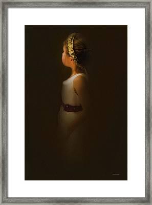 Flower Girl Framed Print by Theresa Tahara