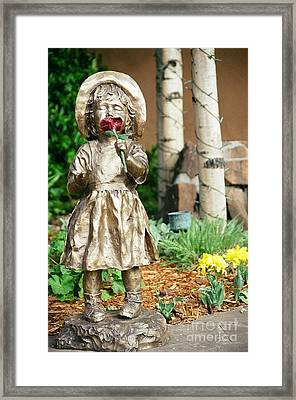Flower Girl Framed Print by Vinnie Oakes