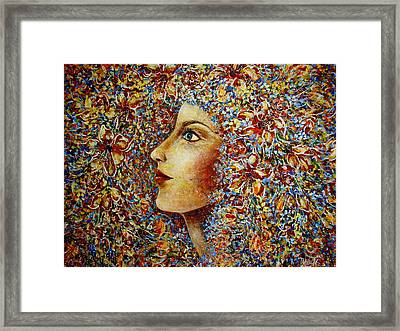 Flower Goddess. Framed Print