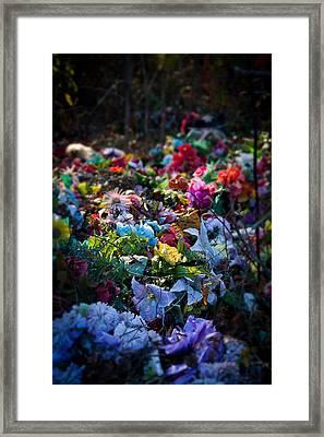 Flower Graveyard Framed Print