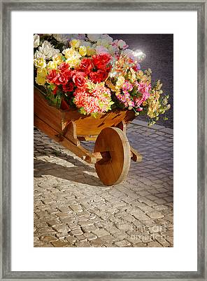 Flower Handcart Framed Print by Carlos Caetano