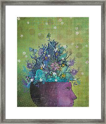Flower-head1 Framed Print by Dennis Wunsch