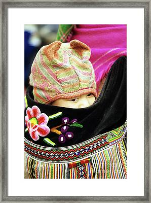 Flower Hmong Baby 02 Framed Print by Rick Piper Photography